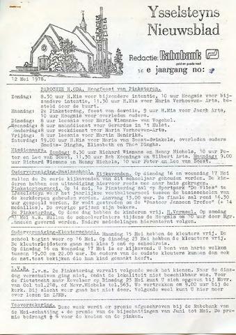 Ysselsteyns Nieuwsblad 1978-05-12