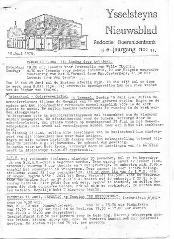 Ysselsteyns Nieuwsblad 1975-06-13