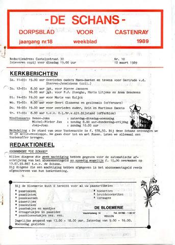 Castenrays dorpsblad De Schans 1989-03-10