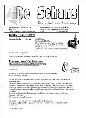 Castenrays dorpsblad De Schans 2010-10-13