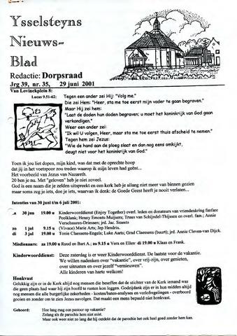 Ysselsteyns Nieuwsblad 2001-06-29