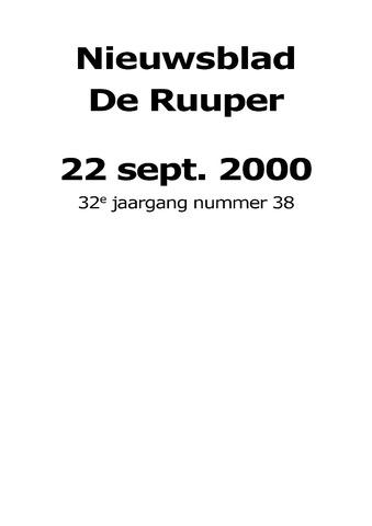 Dorpsblad Leunen-Veulen-Heide 2000-09-22
