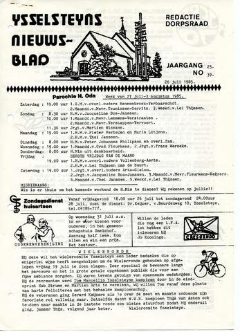 Ysselsteyns Nieuwsblad 1985-07-26
