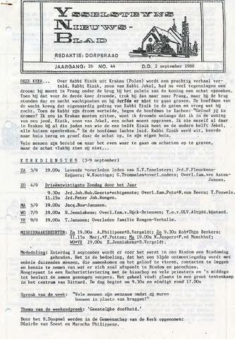 Ysselsteyns Nieuwsblad 1988-09-02