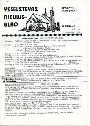Ysselsteyns Nieuwsblad 1983-09-09