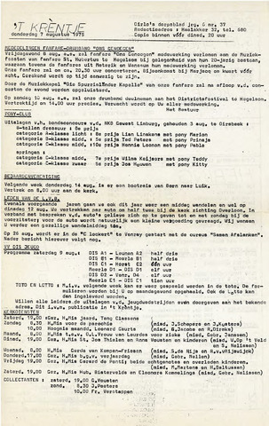 Oirlo's dorpsblad 't Krèntje 1975-08-07