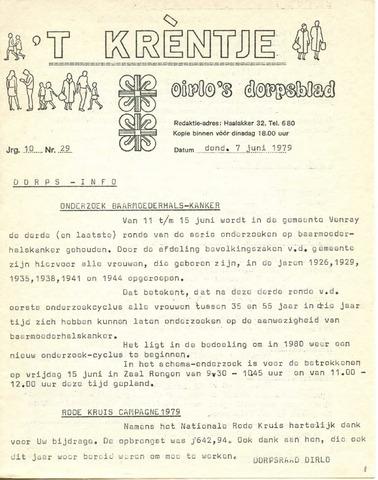 Oirlo's dorpsblad 't Krèntje 1979-06-07