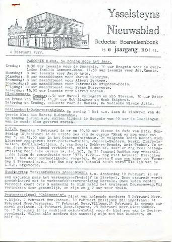 Ysselsteyns Nieuwsblad 1977-02-04