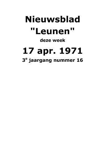Dorpsblad Leunen-Veulen-Heide 1971-04-17