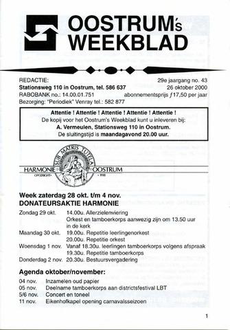 Oostrum's Weekblad 2000-10-26