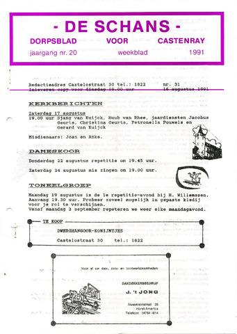 Castenrays dorpsblad De Schans 1991-08-16