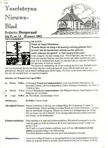 Ysselsteyns Nieuwsblad 2003-03-28