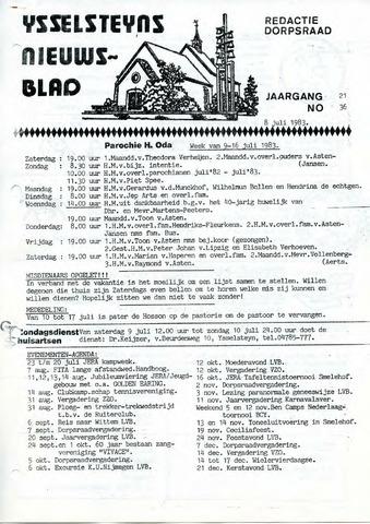 Ysselsteyns Nieuwsblad 1983-07-08
