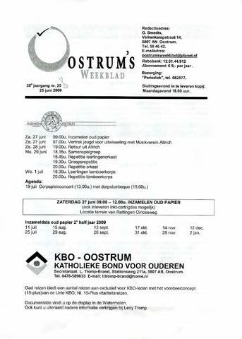 Oostrum's Weekblad 2009-06-25
