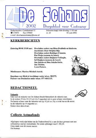 Castenrays dorpsblad De Schans 2002-06-05