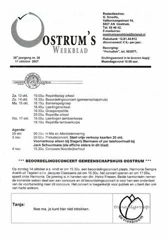 Oostrum's Weekblad 2007-10-11
