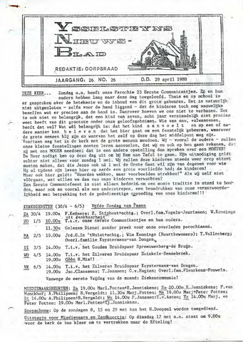 Ysselsteyns Nieuwsblad 1988-04-29