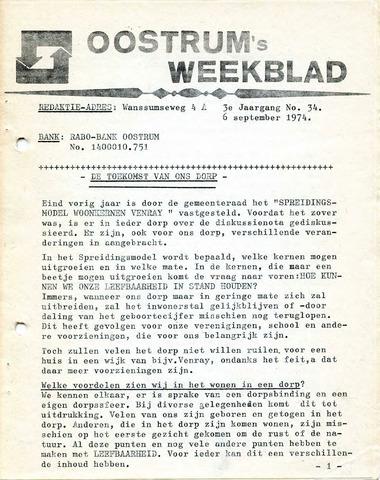 Oostrum's Weekblad 1974-09-06