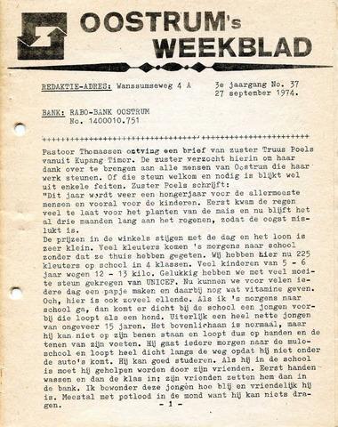 Oostrum's Weekblad 1974-09-27