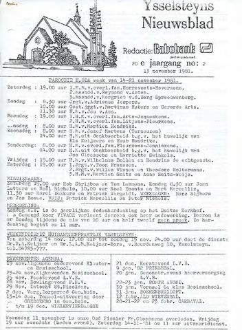 Ysselsteyns Nieuwsblad 1981-11-13