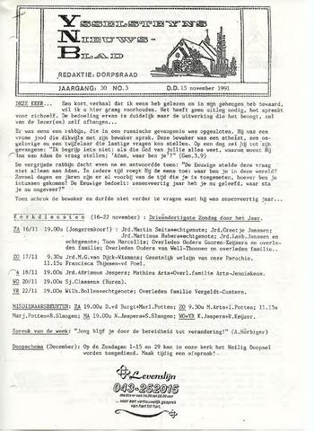 Ysselsteyns Nieuwsblad 1991-11-15