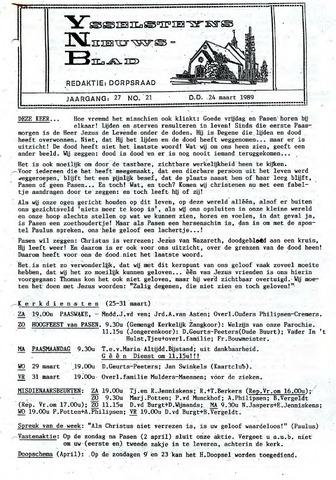 Ysselsteyns Nieuwsblad 1989-03-24