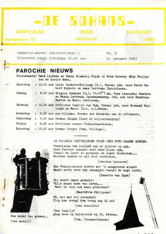 Castenrays dorpsblad De Schans 1983-01-14