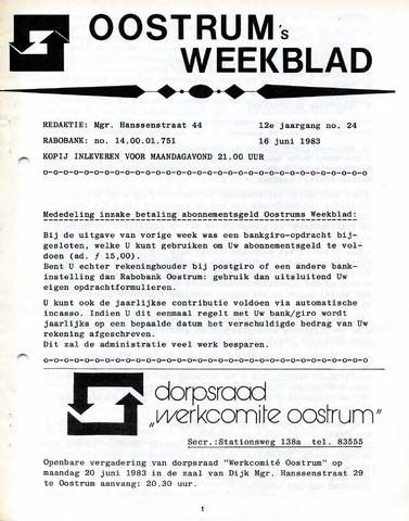Oostrum's Weekblad 1983-06-16