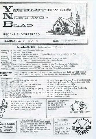 Ysselsteyns Nieuwsblad 1987-09-18