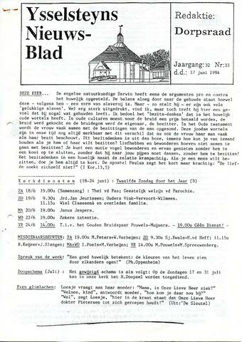 Ysselsteyns Nieuwsblad 1994-06-17