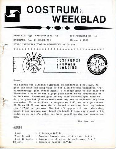Oostrum's Weekblad 1986-03-13
