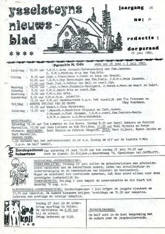 Ysselsteyns Nieuwsblad 1982-06-25