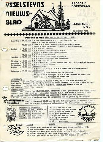 Ysselsteyns Nieuwsblad 1985-10-25