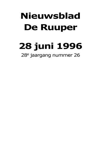 Dorpsblad Leunen-Veulen-Heide 1996-06-28