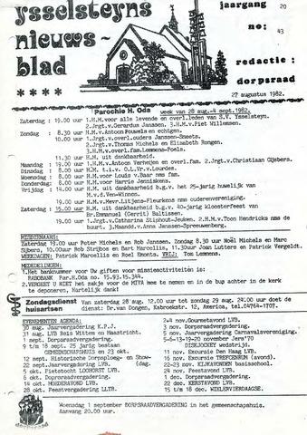 Ysselsteyns Nieuwsblad 1982-08-27