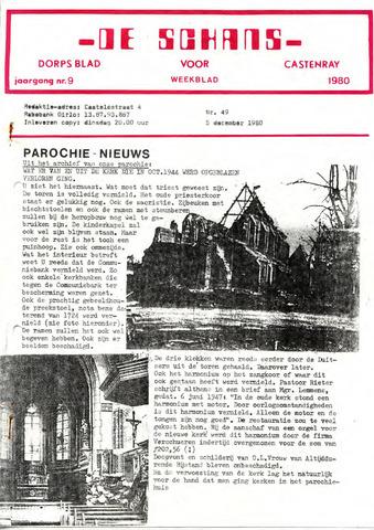 Castenrays dorpsblad De Schans 1980-12-05