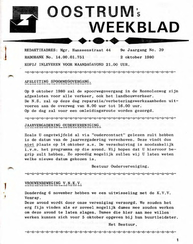 Oostrum's Weekblad 1980-10-02