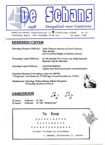 Castenrays dorpsblad De Schans 1998-03-26