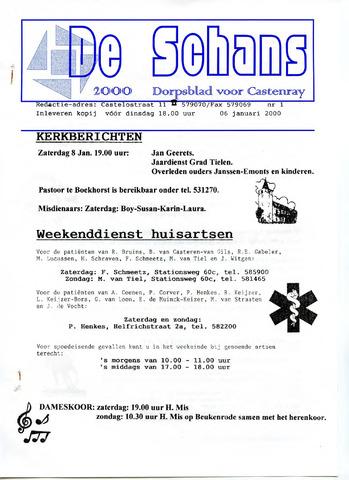 Castenrays dorpsblad De Schans 2000