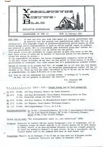 Ysselsteyns Nieuwsblad 1991-02-22