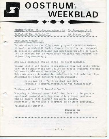 Oostrum's Weekblad 1978-01-26
