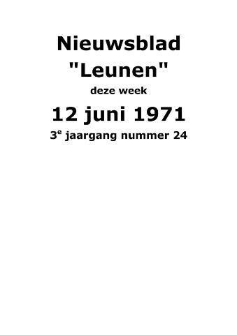 Dorpsblad Leunen-Veulen-Heide 1971-06-12
