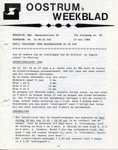 Oostrum's Weekblad 1984-05-17
