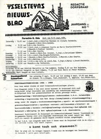 Ysselsteyns Nieuwsblad 1984-09-07