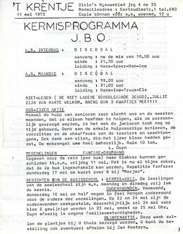 Oirlo's dorpsblad 't Krèntje 1973-05-11