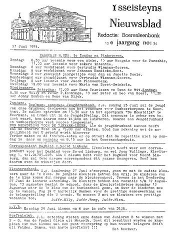 Ysselsteyns Nieuwsblad 1974-06-21