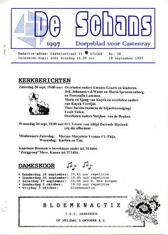 Castenrays dorpsblad De Schans 1997-09-18