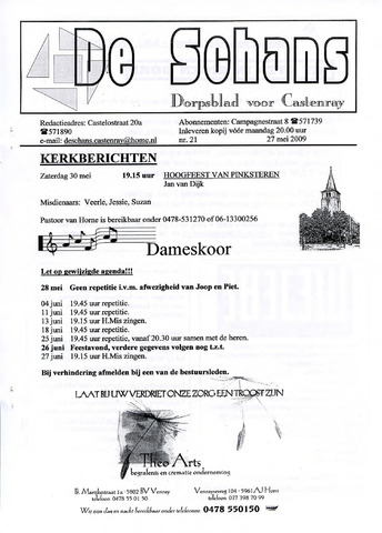 Castenrays dorpsblad De Schans 2009-05-27