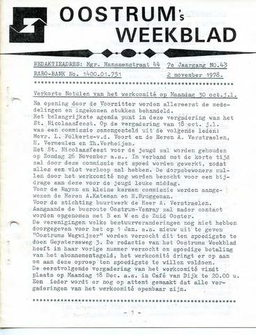 Oostrum's Weekblad 1978-11-02