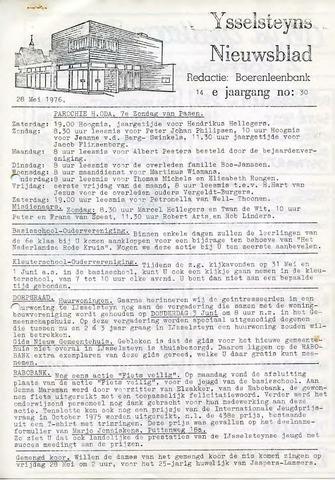 Ysselsteyns Nieuwsblad 1976-05-28